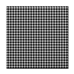 Friendly Houndstooth Pattern,black And White Tile Coasters by MoreColorsinLife