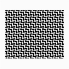 Friendly Houndstooth Pattern,black And White Small Glasses Cloth by MoreColorsinLife