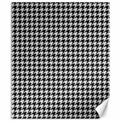 Friendly Houndstooth Pattern,black And White Canvas 8  X 10  by MoreColorsinLife