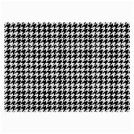 Friendly Houndstooth Pattern,black And White Large Glasses Cloth (2-Side) Front