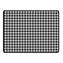 Friendly Houndstooth Pattern,black And White Fleece Blanket (small) by MoreColorsinLife