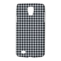 Friendly Houndstooth Pattern,black And White Galaxy S4 Active by MoreColorsinLife