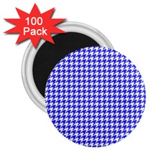 Friendly Houndstooth Pattern,blue 2 25  Magnets (100 Pack)  by MoreColorsinLife