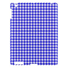 Friendly Houndstooth Pattern,blue Apple Ipad 3/4 Hardshell Case by MoreColorsinLife