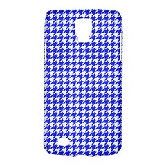 Friendly Houndstooth Pattern,blue Galaxy S4 Active by MoreColorsinLife