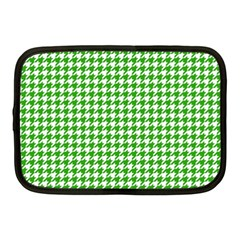 Friendly Houndstooth Pattern,green Netbook Case (medium)  by MoreColorsinLife