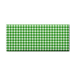 Friendly Houndstooth Pattern,green Cosmetic Storage Cases by MoreColorsinLife