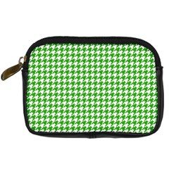 Friendly Houndstooth Pattern,green Digital Camera Cases by MoreColorsinLife