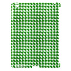 Friendly Houndstooth Pattern,green Apple Ipad 3/4 Hardshell Case (compatible With Smart Cover) by MoreColorsinLife