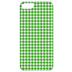 Friendly Houndstooth Pattern,green Apple Iphone 5 Classic Hardshell Case