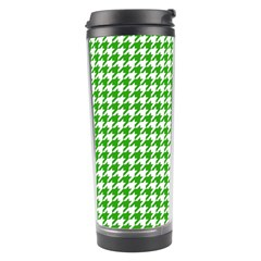 Friendly Houndstooth Pattern,green Travel Tumbler by MoreColorsinLife