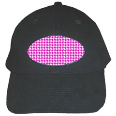 Friendly Houndstooth Pattern,pink Black Cap by MoreColorsinLife