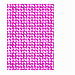 Friendly Houndstooth Pattern,pink Large Garden Flag (two Sides) by MoreColorsinLife