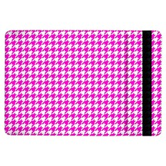 Friendly Houndstooth Pattern,pink Ipad Air Flip by MoreColorsinLife