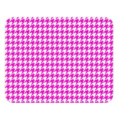 Friendly Houndstooth Pattern,pink Double Sided Flano Blanket (large)  by MoreColorsinLife