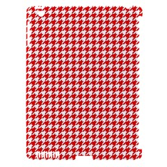 Friendly Houndstooth Pattern,red Apple Ipad 3/4 Hardshell Case (compatible With Smart Cover) by MoreColorsinLife