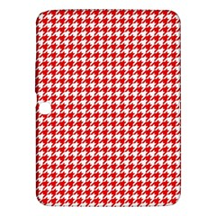 Friendly Houndstooth Pattern,red Samsung Galaxy Tab 3 (10 1 ) P5200 Hardshell Case  by MoreColorsinLife