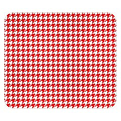 Friendly Houndstooth Pattern,red Double Sided Flano Blanket (small)  by MoreColorsinLife