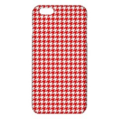 Friendly Houndstooth Pattern,red Iphone 6 Plus/6s Plus Tpu Case by MoreColorsinLife