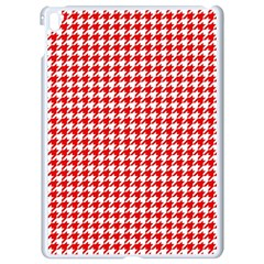Friendly Houndstooth Pattern,red Apple Ipad Pro 9 7   White Seamless Case
