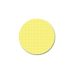 Friendly Houndstooth Pattern,yellow Golf Ball Marker (10 Pack) by MoreColorsinLife