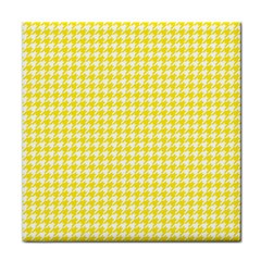 Friendly Houndstooth Pattern,yellow Face Towel by MoreColorsinLife