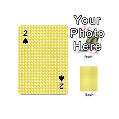 Friendly Houndstooth Pattern,yellow Playing Cards 54 (mini)  by MoreColorsinLife