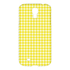Friendly Houndstooth Pattern,yellow Samsung Galaxy S4 I9500/i9505 Hardshell Case by MoreColorsinLife
