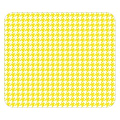 Friendly Houndstooth Pattern,yellow Double Sided Flano Blanket (small)  by MoreColorsinLife