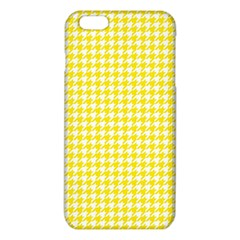 Friendly Houndstooth Pattern,yellow Iphone 6 Plus/6s Plus Tpu Case by MoreColorsinLife