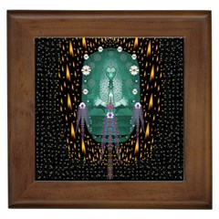 Temple Of Yoga In Light Peace And Human Namaste Style Framed Tiles by pepitasart