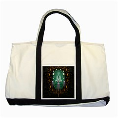 Temple Of Yoga In Light Peace And Human Namaste Style Two Tone Tote Bag by pepitasart