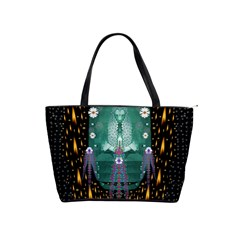 Temple Of Yoga In Light Peace And Human Namaste Style Shoulder Handbags by pepitasart
