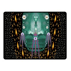 Temple Of Yoga In Light Peace And Human Namaste Style Fleece Blanket (small) by pepitasart