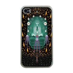 Temple Of Yoga In Light Peace And Human Namaste Style Apple Iphone 4 Case (clear) by pepitasart