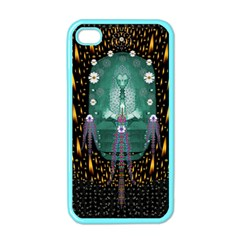 Temple Of Yoga In Light Peace And Human Namaste Style Apple Iphone 4 Case (color) by pepitasart
