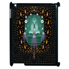 Temple Of Yoga In Light Peace And Human Namaste Style Apple Ipad 2 Case (black) by pepitasart