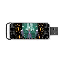 Temple Of Yoga In Light Peace And Human Namaste Style Portable Usb Flash (two Sides) by pepitasart