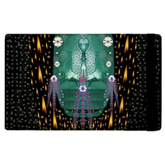 Temple Of Yoga In Light Peace And Human Namaste Style Apple Ipad 2 Flip Case by pepitasart