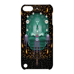 Temple Of Yoga In Light Peace And Human Namaste Style Apple Ipod Touch 5 Hardshell Case With Stand by pepitasart