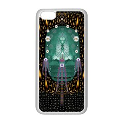 Temple Of Yoga In Light Peace And Human Namaste Style Apple Iphone 5c Seamless Case (white) by pepitasart