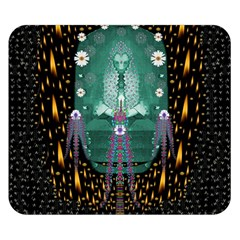Temple Of Yoga In Light Peace And Human Namaste Style Double Sided Flano Blanket (small)  by pepitasart