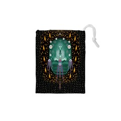 Temple Of Yoga In Light Peace And Human Namaste Style Drawstring Pouches (xs)  by pepitasart