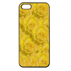 Summer Yellow Roses Dancing In The Season Apple Iphone 5 Seamless Case (black) by pepitasart