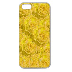 Summer Yellow Roses Dancing In The Season Apple Seamless Iphone 5 Case (clear) by pepitasart
