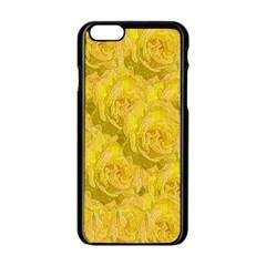Summer Yellow Roses Dancing In The Season Apple Iphone 6/6s Black Enamel Case by pepitasart