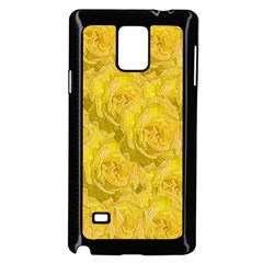 Summer Yellow Roses Dancing In The Season Samsung Galaxy Note 4 Case (black) by pepitasart