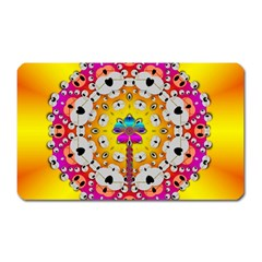 Fantasy Flower In Tones Magnet (rectangular) by pepitasart