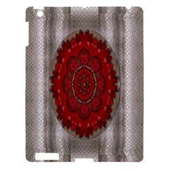 Strawberry  With Waffles And Fantasy Flowers In Harmony Apple Ipad 3/4 Hardshell Case by pepitasart