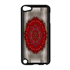 Strawberry  With Waffles And Fantasy Flowers In Harmony Apple Ipod Touch 5 Case (black) by pepitasart
